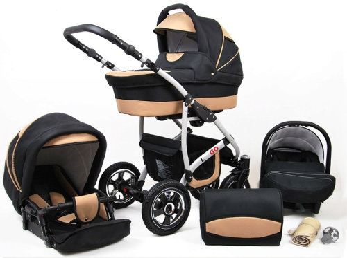 Passeggino Trio 3in1 2in1 Isofix Ovetto Compatto New L-Go by SaintBaby