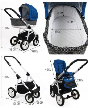 Kinderwagen 3in1 2in1 Set Isofix Buggy Kombikinderwagen LightWeight by SaintBaby