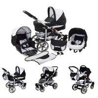 Cochecito de bebe 3 en 1 2 en 1 Trio Isofix silla de paseo X-Car by SaintBaby