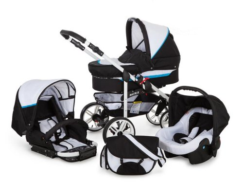 Passeggino Trio 3in1 2in1 Isofix Ovetto Compatto X-Car GO by SaintBaby
