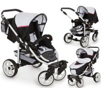 Kinderwagen 3in1 2in1 Set Isofix Buggy Autostoeltje Combo X-Car Go by SaintBaby