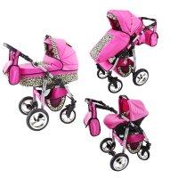 Kinderwagen 3in1 2in1 Set Isofix Buggy Babywanne Autositz D-Deluxe by SaintBaby