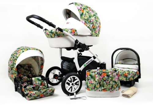 Travel System Stroller Pram Pushchair 2in1 3in1 Set Isofix Tropic by SaintBaby