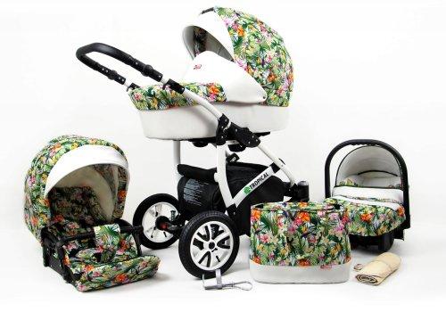 Kinderwagen 3in1 2in1 Set Isofix Buggy Baby Autostoeltje Tropic by SaintBaby