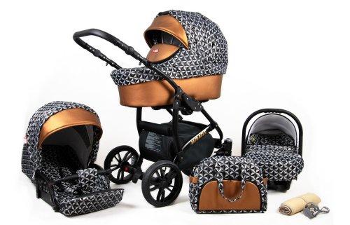 Kinderwagen 3in1 2in1 Set Isofix Buggy Babywanne Autositz Tropic by SaintBaby Banana Leaf 2in1 ohne Babyschale