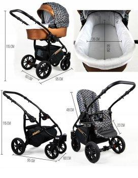 Kinderwagen 3in1 2in1 Isofix Buggy Babywanne Autositz Wonderland by SaintBaby