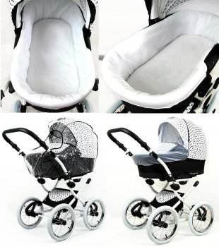 Kinderwagen 3in1 Retro Autositz Buggy Isofix Luftreifen Nostalgica by SaintBaby