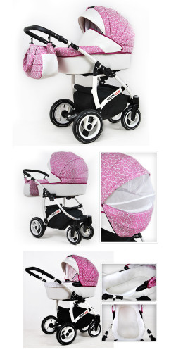 Classic Baby Pram Pushchair 2in1 or 3in1 stroller travel system colours/&patterns