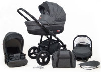 Kinderwagen 3in1 2in1 Set Isofix Buggy Babywanne Autositz Exel by SaintBaby