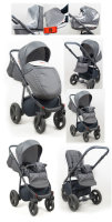 Travel System Stroller Pram Pushchair 2in1 3in1 Set Isofix Marley by SaintBaby