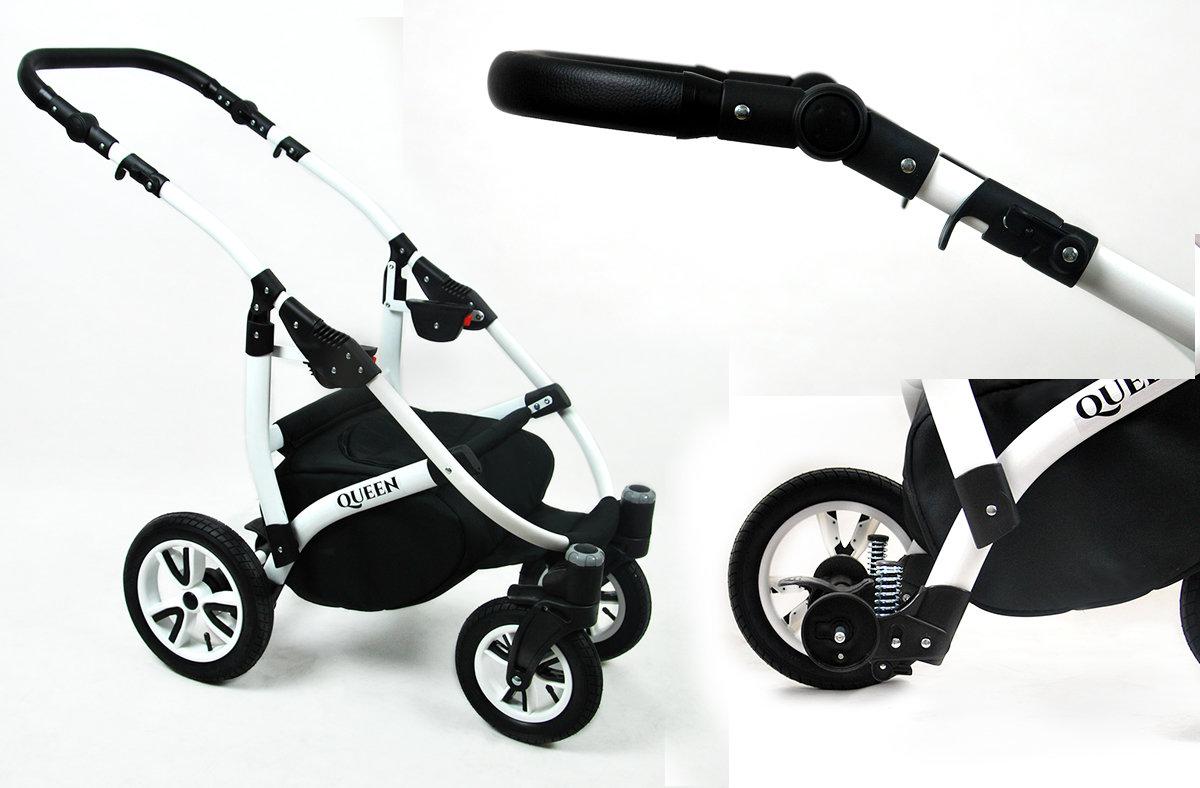 Kinderwagen 3in1 2in1 Set Isofix Buggy Babywanne Autositz Queen by SaintBaby Ceylon Yellow 2in1 ohne Babyschale
