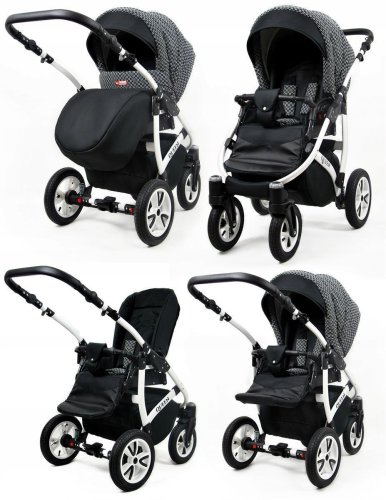 Travel System Stroller Pram Pushchair 2in1 3in1 Set Isofix Queen by SaintBaby