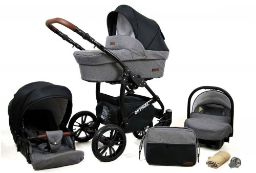 Kinderwagen 3in1 2in1 Set Isofix Buggy Babywanne Autositz Maximum by SaintBaby