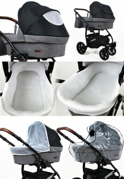 Passeggino Trio 3in1 2in1 Isofix Ovetto Compatto Maximum by SaintBaby