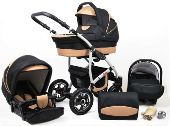 SaintBaby Stroller Pram Pushchair 2in1 3in1 Set all in...