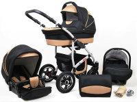 SaintBaby Poussette Landau 2en1 3en1 3in1 Set tout en un siège bébé Buggy Isofix New L-GO
