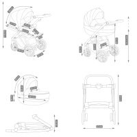 Passeggino Trio 3in1 2in1 Isofix Ovetto Compatto Zeo by SaintBaby