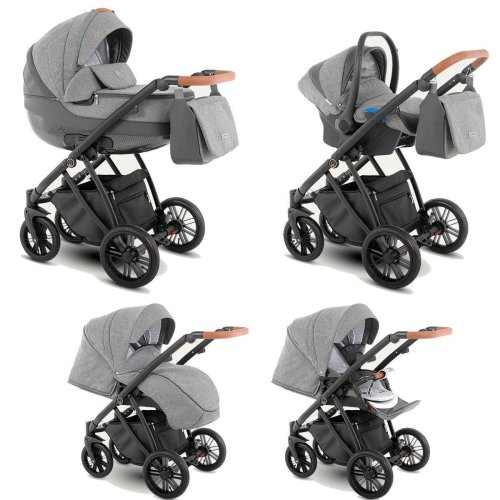Travel System Stroller Pram Pushchair 2in1 3in1 Set Isofix Zeo by SaintBaby  Rock Zeo-1 3in1 with baby seat