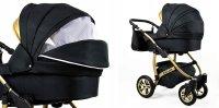 Cochecito de bebe Trio Isofix silla de paseo Black-Deluxe by SaintBaby