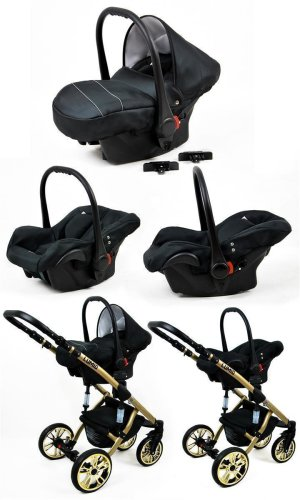 Kinderwagen 3in1 2in1 Set Isofix Buggy Baby Autostoeltje Luminus Gold by SaintBaby