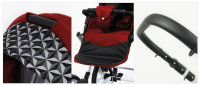 Kinderwagen 3in1 Retro Autostoeltje Buggy Isofix Rosso By Saintbaby