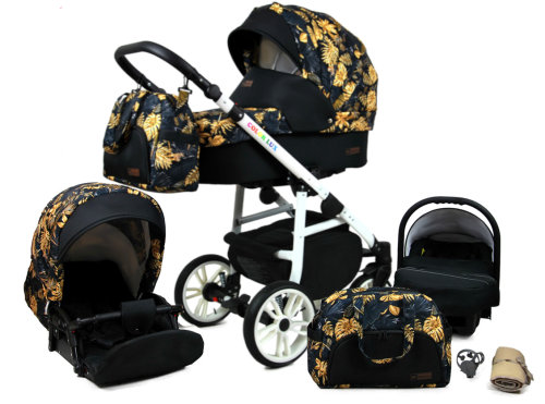 Passeggino Trio 3in1 2in1 Isofix Ovetto Compatto Fire White by SaintBaby