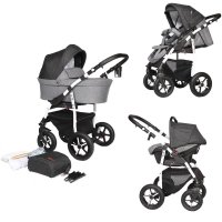 SaintBaby Pram Pushchair Travel System Q9 2in1 3in1 Isofix Infant Car Seat combi buggy