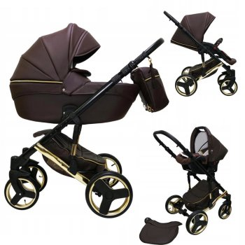 SaintBaby Pram Pushchair Travel System Comodo Gold 2in1...