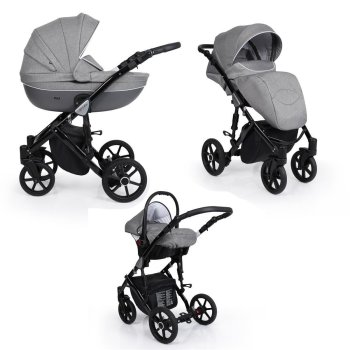 SaintBaby Pram Pushchair Travel System Milla White 2in1...