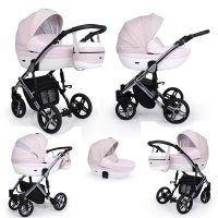 SaintBaby Pram Pushchair Travel System Lava Silver 2in1 3in1 Isofix Infant Car Seat combi buggy